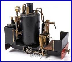 0-4-0 Live Steam Vertical Boiler Locomotive G Scale Sm45 45mm 1 Gauge Gas Fired
