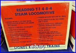 #18006 Lionel Reading T-1 4-8-4 Steam Locomotive & Tender O scale original box