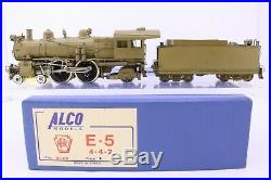 Alco Brass HO Scale Pennsylvania Railroad E5s Atlantic 4-4-2 Loco and Tender