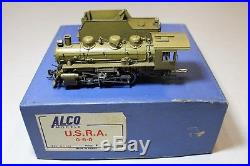 Alco Brass HO Scale USRA 0-6-0 Steam Locomotive with Can Motor