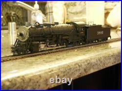 BLI HO Scale AT&SF 2-10-2 Steam Loco #3881 DCC/Sound
