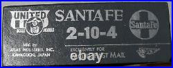 BRASS HO SCALE PFM UNITED SANTA FE 2-10-4 LOCOMOTIVE and TENDER