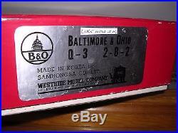 BRASS Westside B. & O. Q-3 2-8-2 Steam Loco Unpainted H. O. Scale 1/87