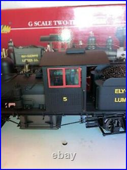 Bachmann G Scale Spectrum #81198 Ely Thomas 36T, 2 Truck Shay Engine, OB