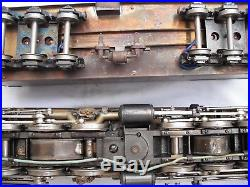 Brass 2-8-8-2 Steam Locomotive Engine and DogHouse Tender, O Scale Gauge AS IS