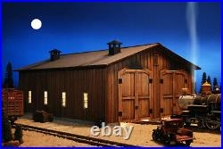 G SCALE LOCOMOTIVE SHED BUILDING FOR USE w LGB ACCUCRAFT MTH DIESEL LIVE STEAM