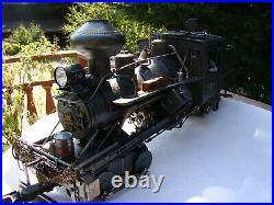 G scale Logging Heisler Locomotive Tsu DCC & Sound custom weathered lot 10