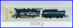 HO Scale TYCO 245-02 The Royal Blue 2-8-0 Steam Locomotive & Tender With Smoke
