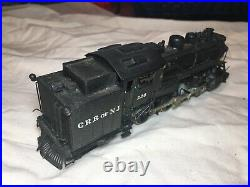 HO Scale brass Central Railroad of New Jersey 4-6-4T Class H1S Steam Locomotive