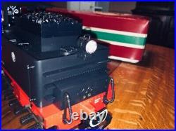 LGB 2015D 0-4-0 G-Scale Steam Locomotive with Tender Lights/Smoke/Box - MINT