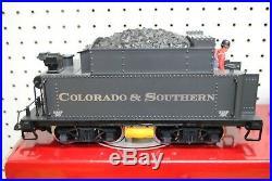 LGB 2019S 2-6-0 C&S Steam Mogul Locomotive & Tender withSound G-Scale