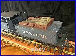 LGB 2028D DSP&P 2-6-0 Mogul Steam Locomotive & Tender G Scale
