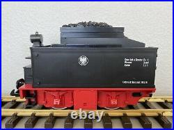 LGB Black & Red KPEV Motorized Tender with Rear Lantern Light G-Scale