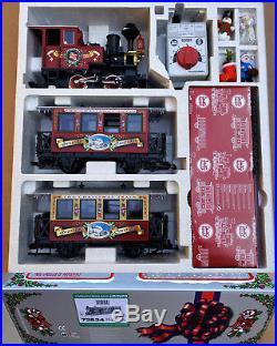 Lgb G Scale 72534 Christmas 0-4-0 Steam Engine & 2 Passenger Starter Set