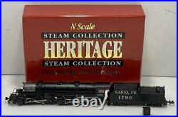 Life Like 7527 N Scale AT&SF 2-8-8-2 Steam Locomotive & Tender LN/Box