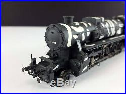 Liliput L105213 BR 52 3502 DRG WWII Winter Camo 2-10-0 Steam Locomotive HO Scale