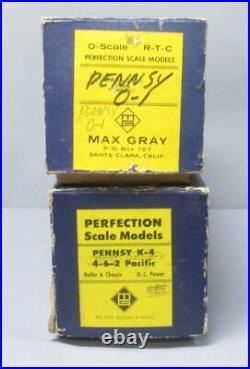 Max Gray O Scale Brass Santa Fe 4-6-2 Heavy Pacific Steam Loco & Tender 2 Rail