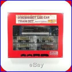 N Scale MICRO TRAINS 2-6-2 Steam Locomotive & Disconnect Log Car Train Set -RARE