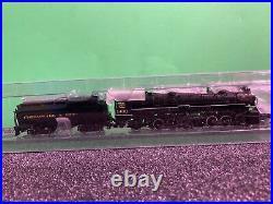 N scale bachmann spectrum steam locomotive c & o h-2-6-6-2 loco & tender 1439