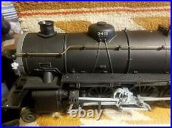 Scarce Aristo-craft 21411 Santa Fe 3411 Steam Locomotive & Coal Tender G Scale