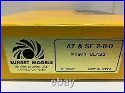 Sunset O scale 2-Rail Brass Santa Fe ATSF 1972 Class 2-8-0 C8 FREE SHIPPING