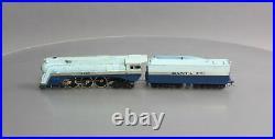 Tenshodo 163 HO Scale BRASS ATSG Blue Goose Steam Loco & Tender EX/Box