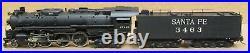 Tenshodo Santa Fe 4-6-4 Hudson Steam Engine F/P BRASS SERVICED HO-Scale