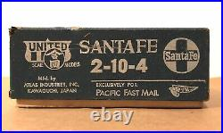 United PFM HO Scale Santa Fe 2-10-4 Brass Steam Locomotive & Tender OB