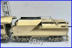 Vintage HO Scale BRASS 2-8-2 Steam Locomotive & Tender Unpainted B&O