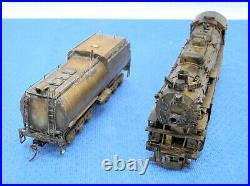 Westside HO Scale 4-10-2 Brass SP Locomotive & Tender OB, runs perfectly