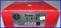 Westside Model Co. Ho Scale Sierra Railroad #24 2-8-0 Locomotive