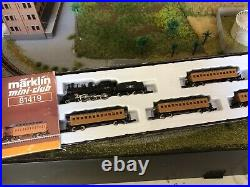 Z Scale Marklin 81419 Old Steam Engine & Passenger Cars Set DCC & LED Light Rare